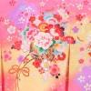 産着レンタル 女の子(お宮参り)1191 ピンク地 花車