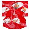 【正絹】お宮参り女の子1139 赤 /絞り花車