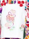 七五三レンタル(3歳女の子被布)3228 万華鏡柄/桜・梅 和モダン