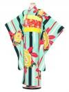 七五三レンタル(7歳女の子結び帯)3108 LILLI 緑薔薇