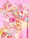 【正絹】お宮参り女の子174 ピンク /のしと花毬に蝶