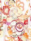 お宮参り女の子1163 クリーム/ねじり梅 古典柄