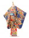 七五三(7歳袋帯・羽織)7218アンティーク着物黄色雲