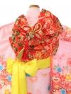 七五三(7歳女)E7135 ピンク鹿の子絞り調 吉祥古典柄