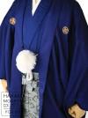 卒業式成人式袴レンタル 青紋付×龍0094