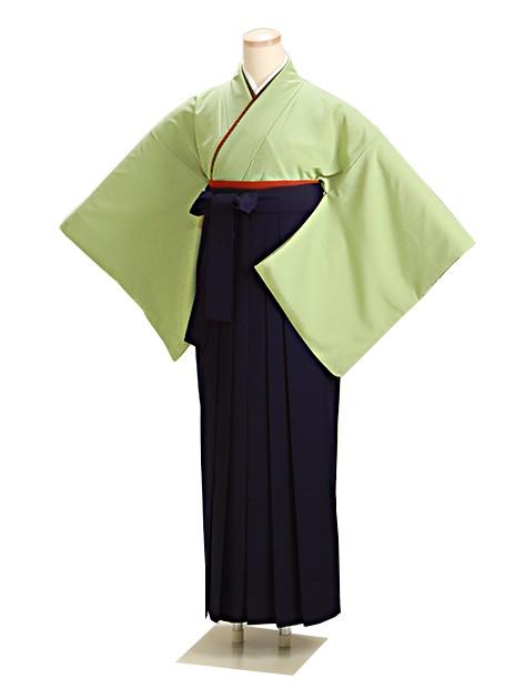 卒業式袴 グリーン L105 紺袴【身長160cm位】