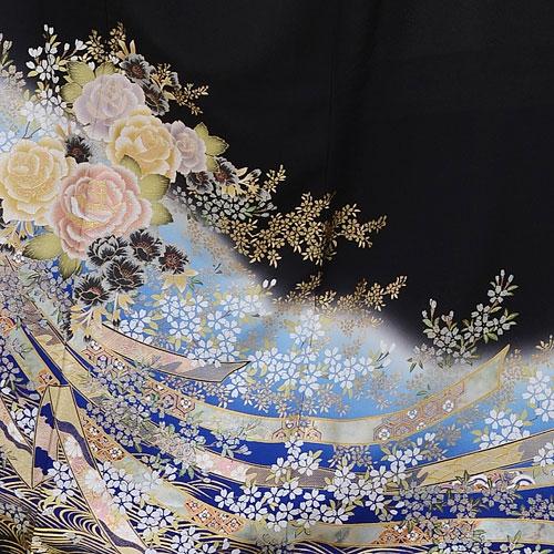 留袖 レンタル Q3-52青バラの園