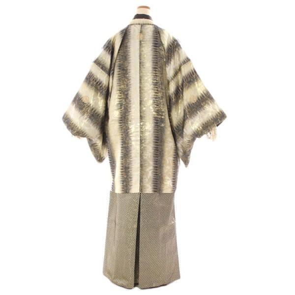 ゴールドクロコダイル羽織×黒ゴールド鱗柄袴