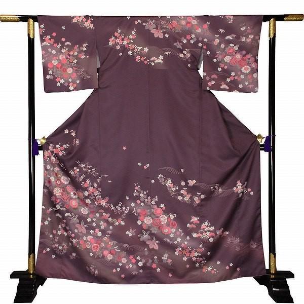 ワンタッチ 訪問着(L 163-168cm)紫