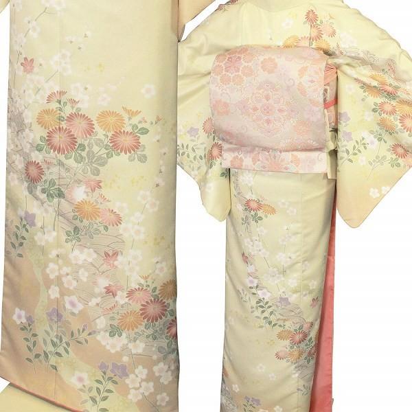 ワンタッチ 訪問着(L 163-168cm)白系