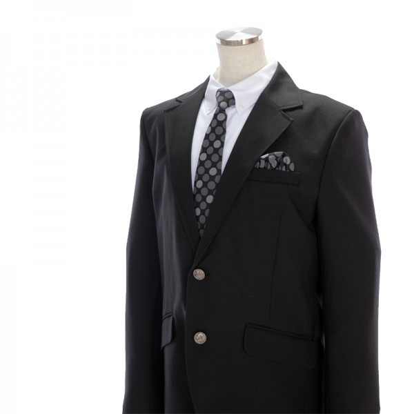 [男児スーツ]長ズボン/ぽっちゃりB体/黒×グレー6B