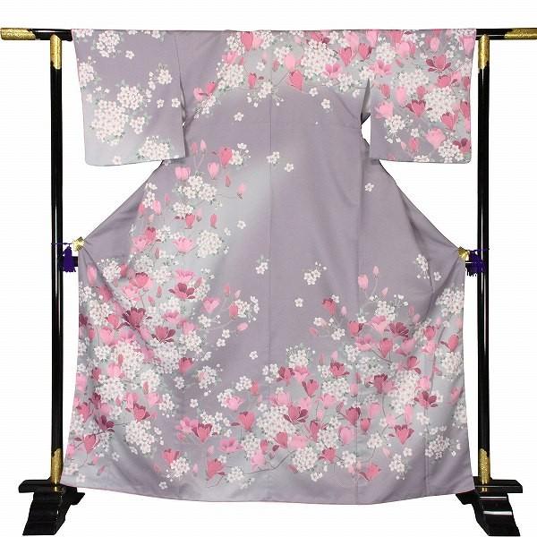 ワンタッチ 訪問着(M 158-163cm)紫