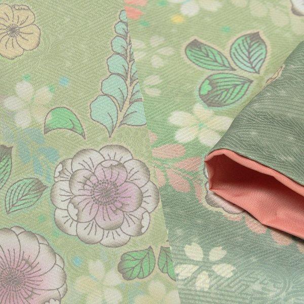 ワンタッチ 訪問着(M 158-163cm)緑