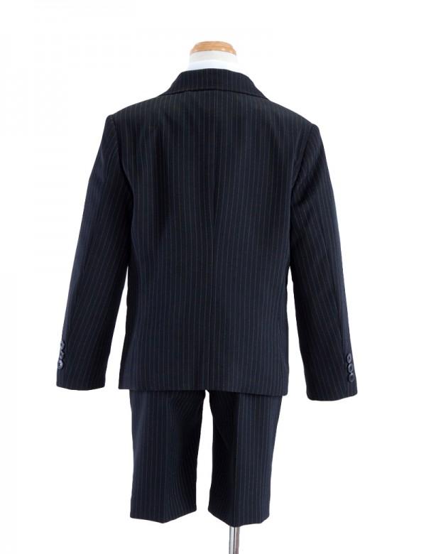 [男児スーツ]半ズボン/黒ストライプ/BS31