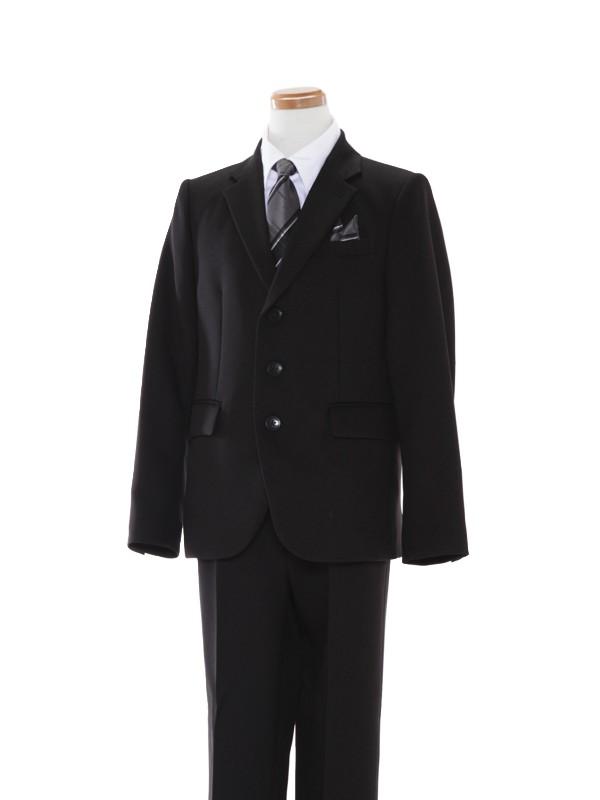 [男児スーツ]長ズボン/黒無地ベーシックスーツ/BS40