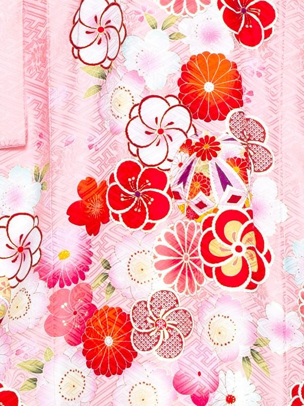 お宮参り女の子1082 ピンク /和花と毬