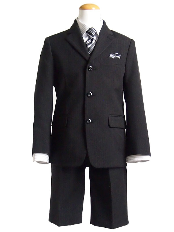 【男児スーツ110cm】6点セット三つ釦ストライプ