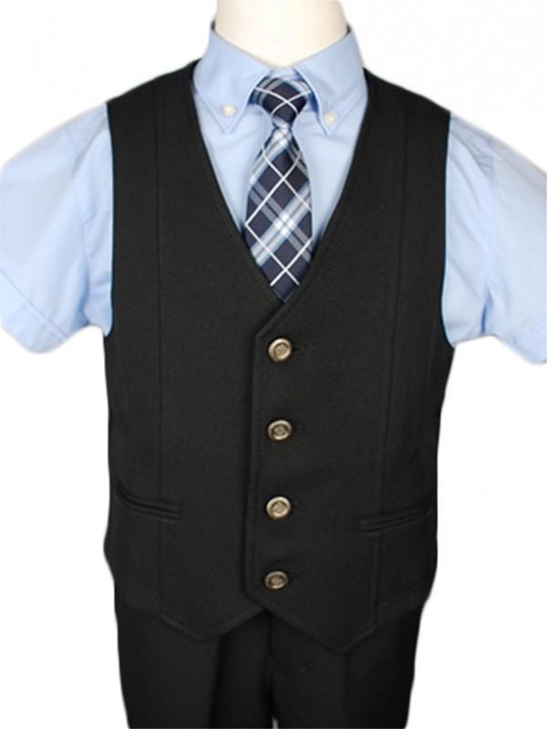 [男児スーツ] 半ズボン CHOPIN 半袖ブルーシャツベストスーツ