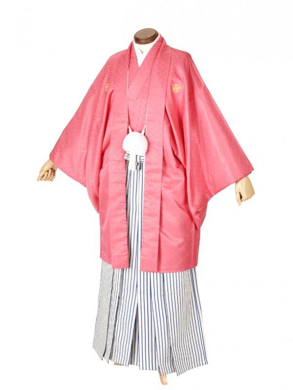 男性用袴・成人式・ピンク8号