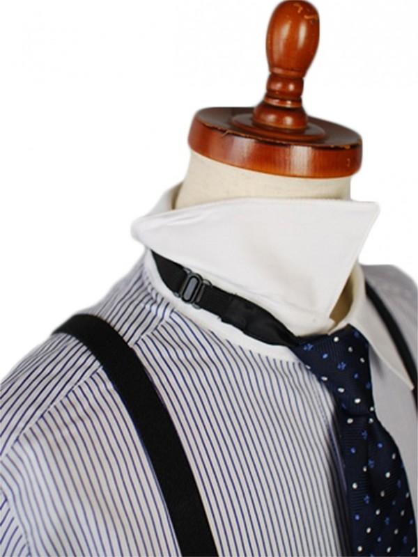 [男児スーツ] 半ズボン 半袖クレリックシャツ/ベストスーツ(グレー)