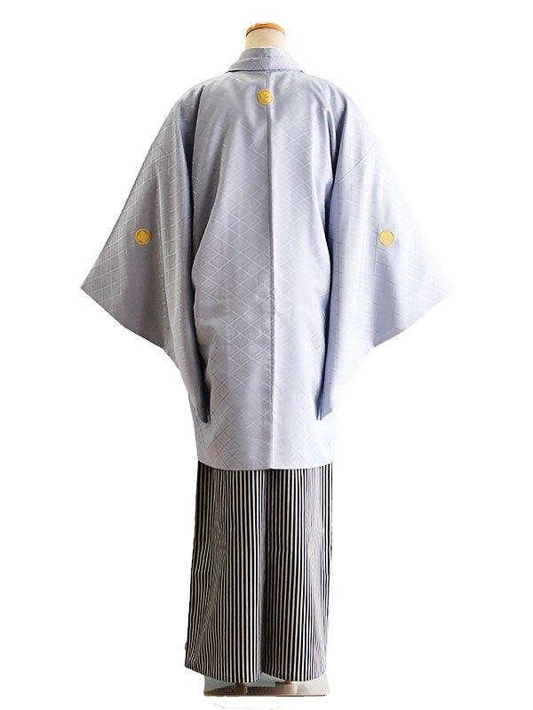 卒業式成人式男性用袴4-4ブルーグレー 6号