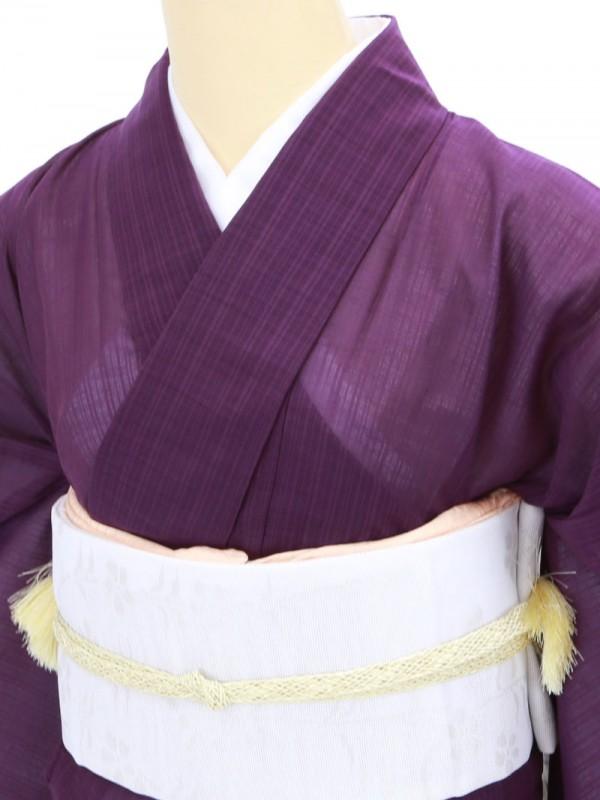 色無地(夏着物)0004 紫地(化繊(紗))