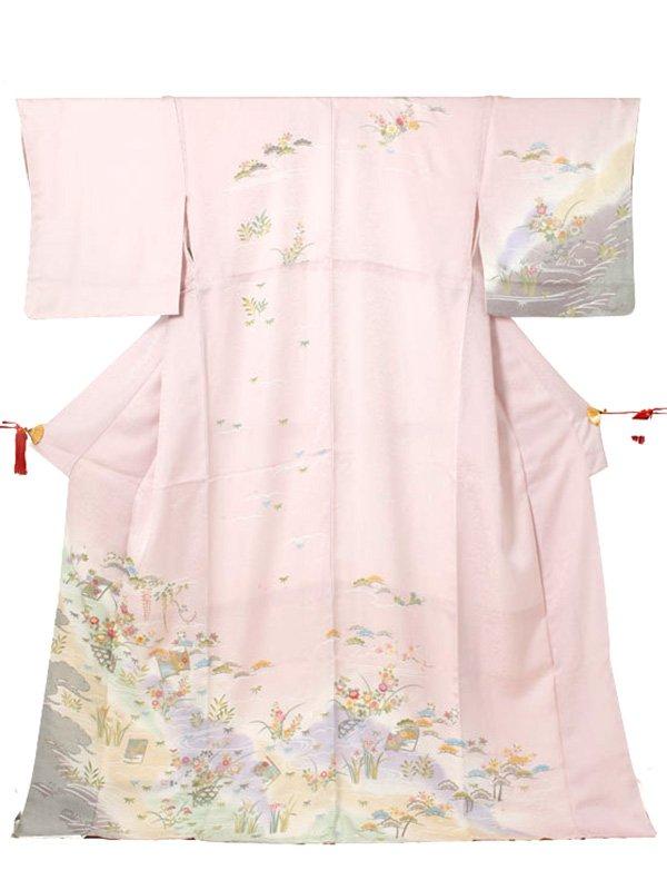 訪問着0029 ピンク 四季の花