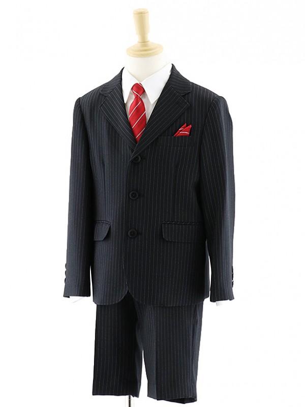 男児 ピンストライプ ブラックスーツ 0060 100㎝~