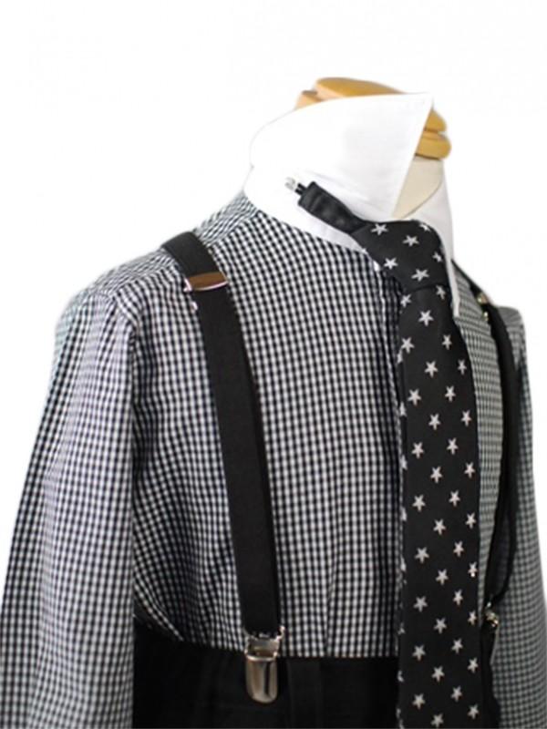[男児スーツ] 半ズボン CHOPIN ベビーベストスーツ!星柄ネクタイ