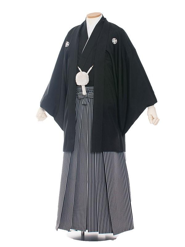 男性用袴 紋服4号定番黒紋付/4000〇