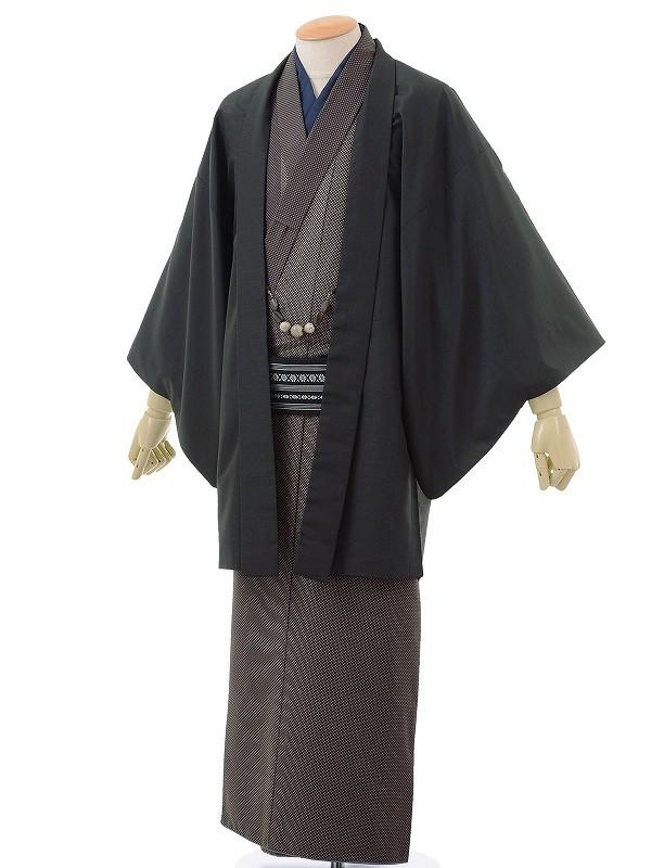 ワンタッチ 男 袷(L 173-178cm)茶