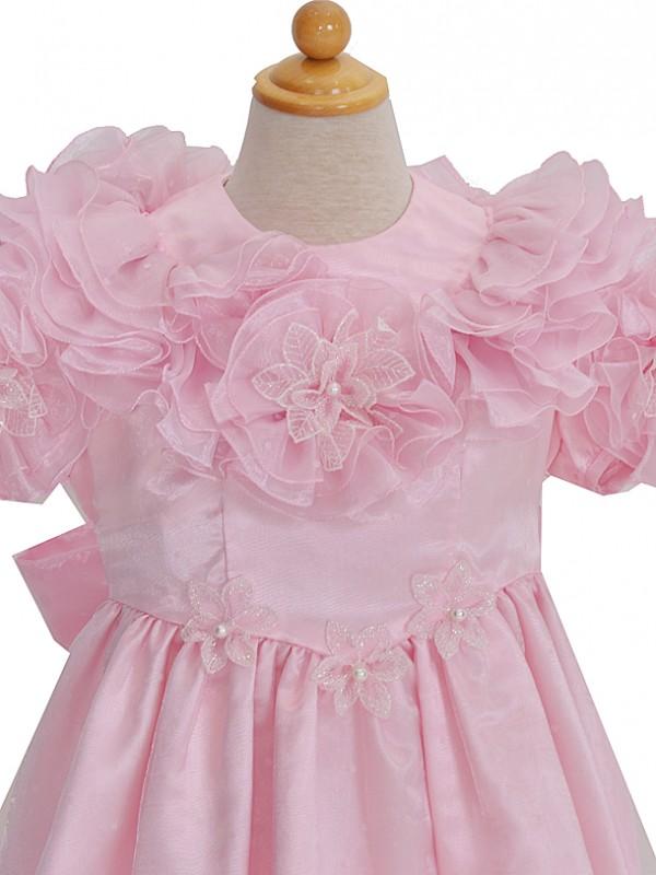 120サイズ キッズドレス KD215 ピンクフラワー