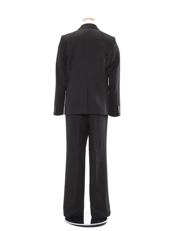 [男児スーツ]長ズボン/黒ダブルピンストライプ地/BS38