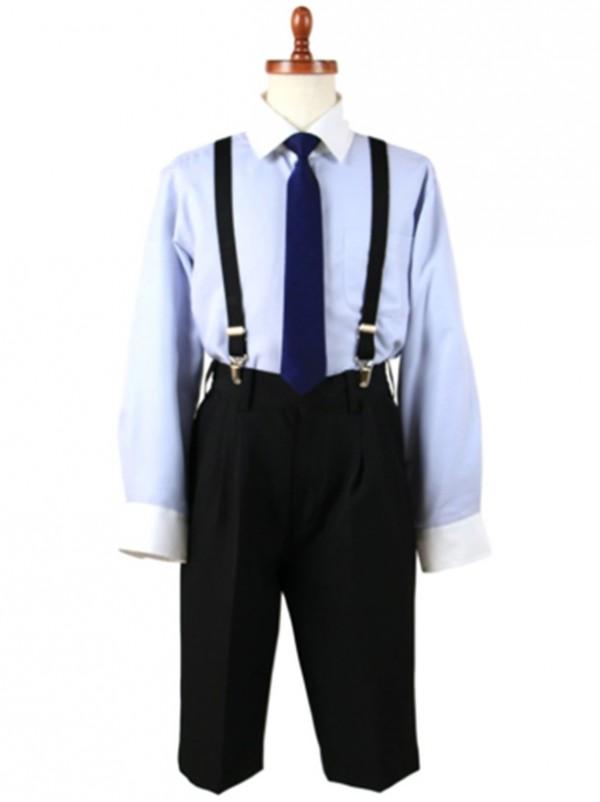 [男児スーツ] 半ズボン OLIVER HOUSE サックスシャツベストスーツ