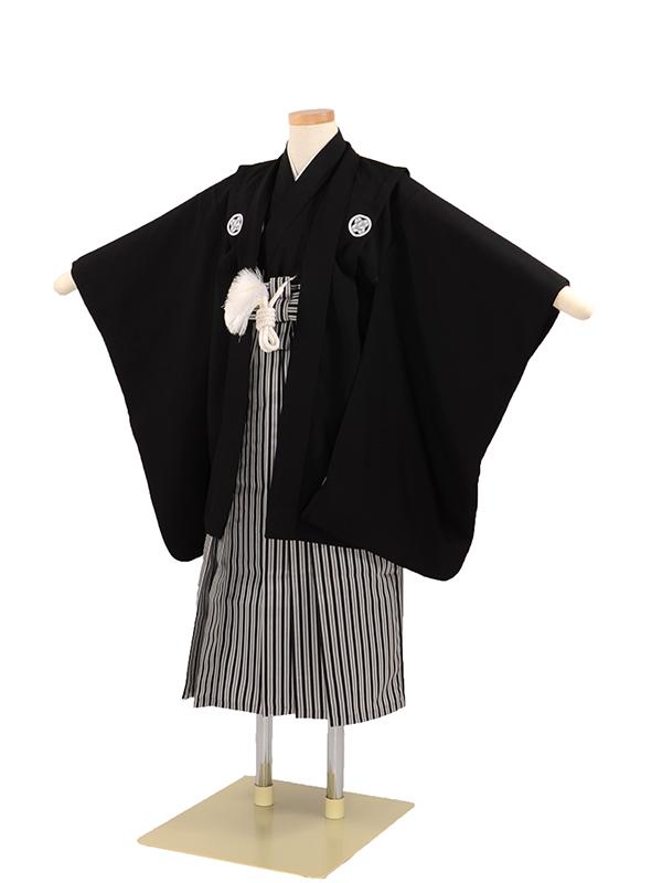 七五三 7歳男袴 黒紋付