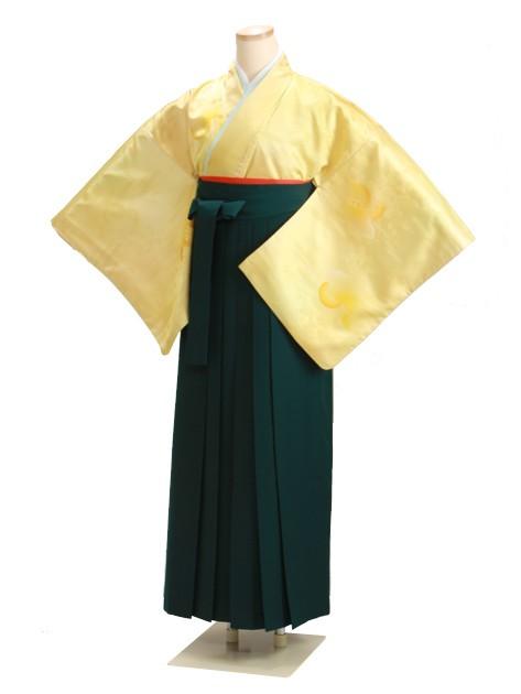 卒業式袴 無地 黄 DD13【身長160cm位】