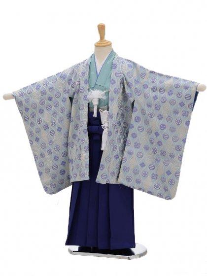 七五三(5男袴)5109 ひさかたろまん 水色