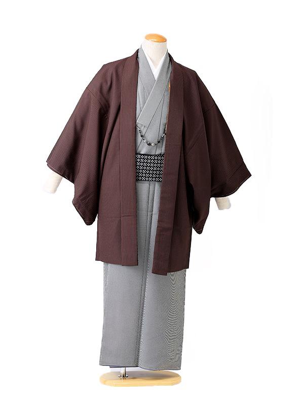 【着流し】羽織着物 HANAE MORI 茶色 6号