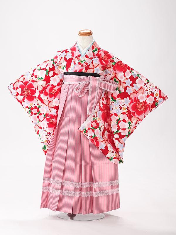 卒園式 女袴3歳着物 3195