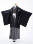 小学生卒業式袴男児0909黒×黒縞