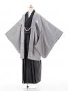 小学生卒業式袴男児0958シルバー×黒ラメ縞袴