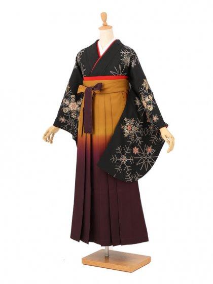 卒業袴レンタル A100黒