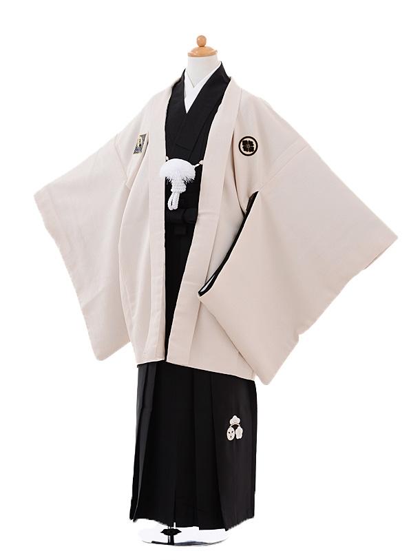 小学生卒業式袴男児9375小町Kidsベージュ×黒