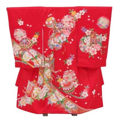 女児産着レンタル 1031赤まり桜