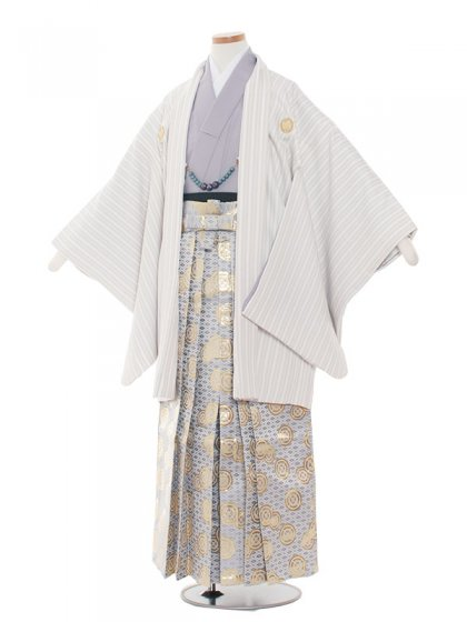 ジュニア(13男)jr1349 クリームストライプ/紫袴80