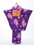 ジュニア着物 レンタル jh0904紫