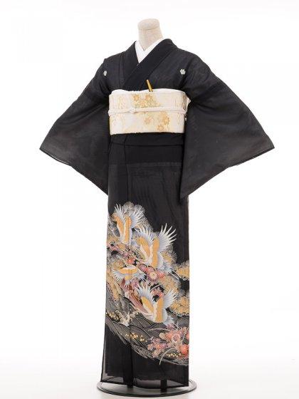 夏黒留袖tcrl019金松鶴