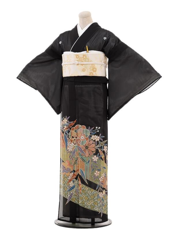 夏黒留袖tcr078笹華
