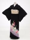 黒留袖レンタル4312カーネーション紫