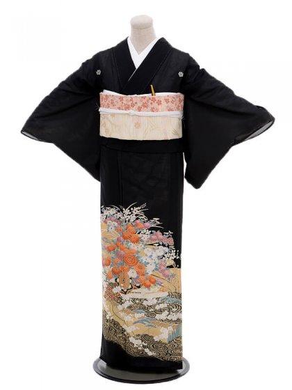 夏留袖5299花かご(化繊 絽)